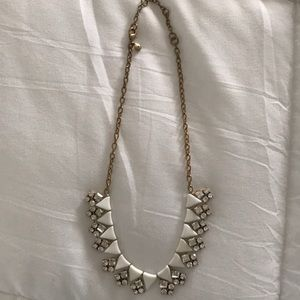 White & Gold J. Crew Necklace